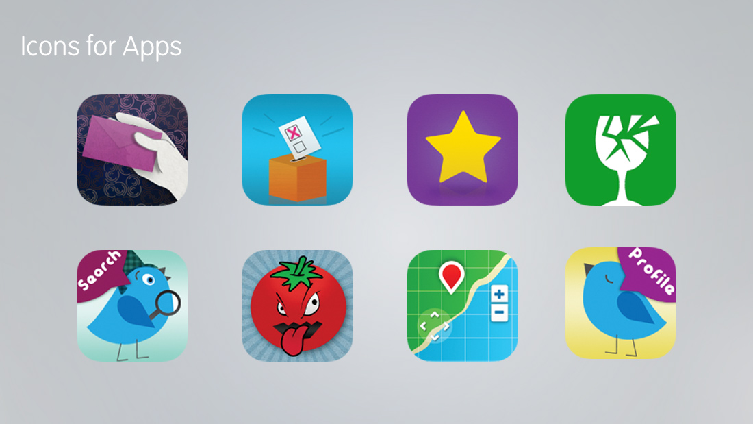 Webdoc icons for apps